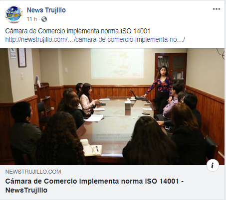 14.11.19.02 NEWS TRUJILLO FB CCLL implementa ISO 14001